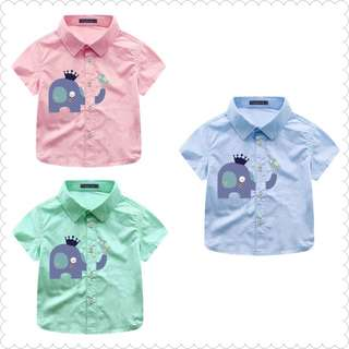 Toddler Boy Kid Smart Casual Short Sleeve Shirt