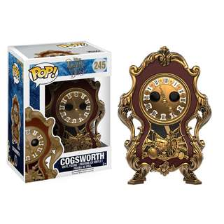 Beauty & The Beast Live Action Cogsworth Funko Pop!