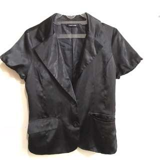 black semi blazer