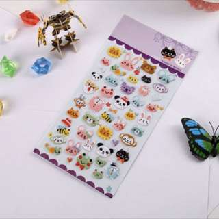 Cute 3D animal stickers