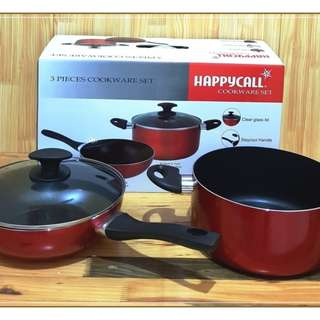 Panci Set Happy Call Cookware Set Korea isi 3 pc murah