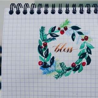 Flower wreath / quotes / designs