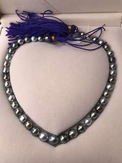 靚色!大溪地混彩米形珍珠項鍊