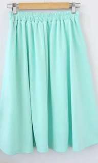 Mint green japanese brand mid length lady skirt. Mango Zara Liz Lisa snidel rosebullet.