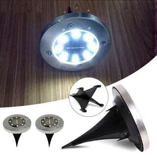 8 LED Solar Powered Burried Ground Light Outdoor Path Decking Night Lamp. (In-Stock Now)