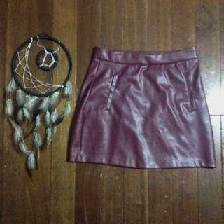 Pull&Bear Leather Skirt