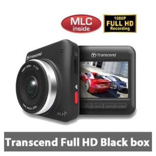 Transcend Full HD car dash camera with 32GB memory card