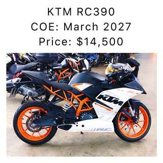 KTM RC390 COE: March 2027