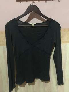Mango darkgrey Top