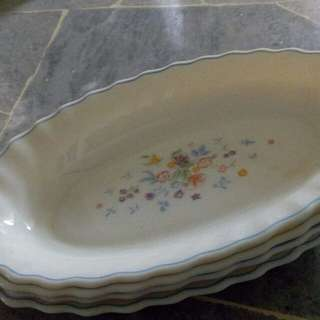 Vintage oval plate set of 4