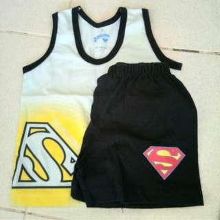 Superbaby sando and shorts