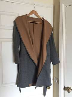 TAN AND CHARCOAL COAT