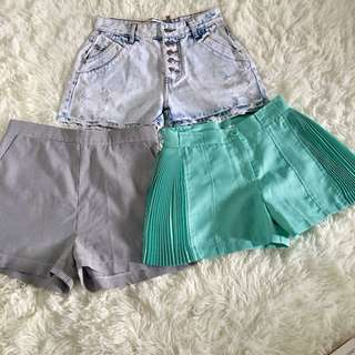 3pcs M Size Shorts Bundle