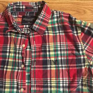 💯👔🔥 authentic American eagle button-down short-sleeved shirt