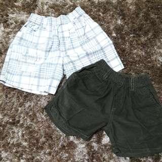 Celana pendek 2 pcs