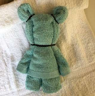 Teddy Bear blue towel baby gift