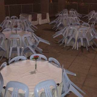 Rental of Round tables and chairs