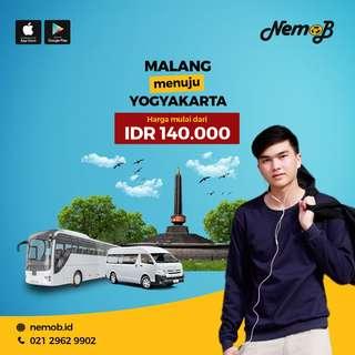 TIket shuttle dan bus murah rute Jogja - Malang dan sebaliknya, hanya 140 ribu.
