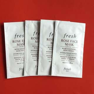 Fresh Rose Face Mask 4ml Sachet x 4