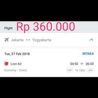 Tiket Murah Jakarta - Yogyakarta