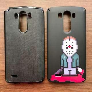 LG G3 Casing Voia FLip Cover & Ringke Slim Custom