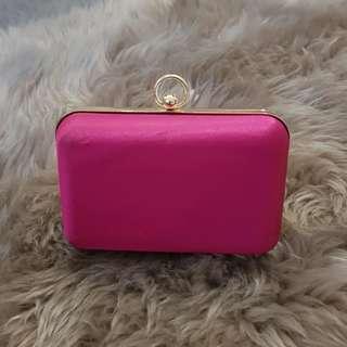 Zu Hot Pink Mini Clutch