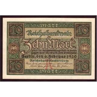 1920 年德國10 mark UNC
