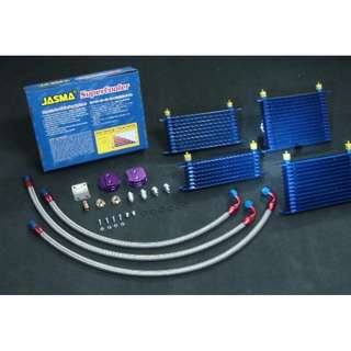 JASMA® VERSION 5 TRUST  Type oil cooler kit with aluminum fitting    AN8  STANDARD TYPE, 15 ROWS  blue color oil cooler mdoel 34594