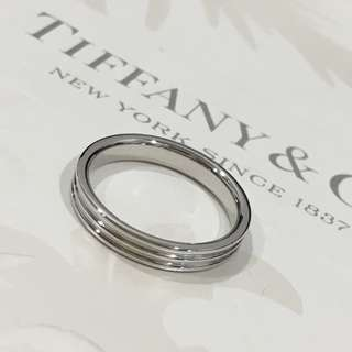 Tiffany & Co Platinum PT950 Triple Three Row Wedding Band Ring 3mm #4.5