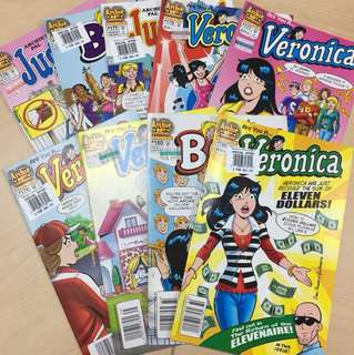 Archie Comics (Betty, Veronica & Jughead)