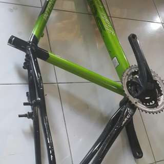 Mountain bike frame SGM Alloy frame. Size 26 with ordinary crank