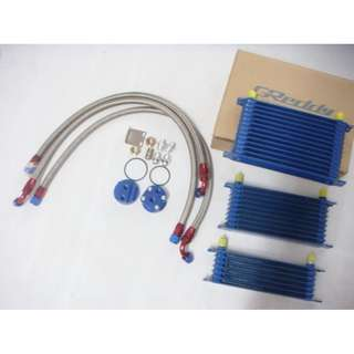 Greddy Oil cooler Kit 7 rows AN8 + Relocation Type  Oil Cooler Adapter + Braided hose model 34610