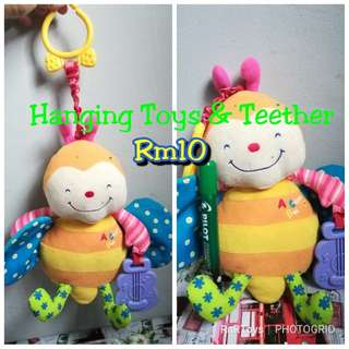 Hanging toys & teether