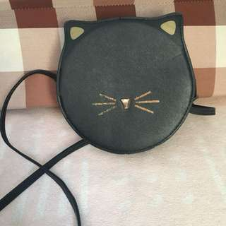 Cat face sling bag