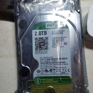 Western Digital WD Green WD20EZRX 2TB IntelliPower 64MB Cache SATA 6.0Gb/s