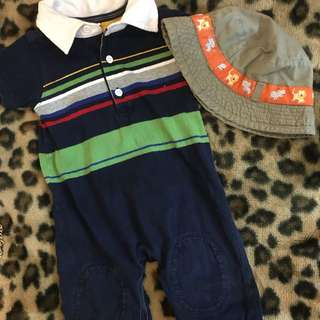 Gap Romper / H&M Bucket hat