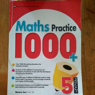 P5 maths practice book