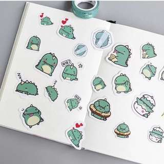 Cute dinosaur stickers