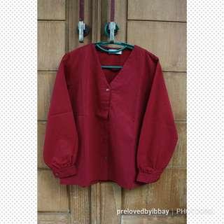 Top shirt maroon (M)