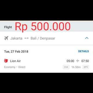 Tiket Murah Jakarta - Bali