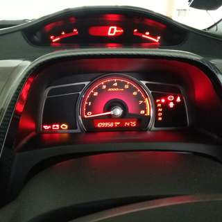 FD civic speedometer led colour change