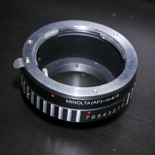 Sony A-mount/Minolta AF to M43 Adapter for sale.