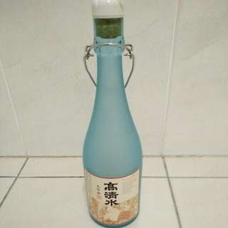 Empty Japanese Sake Bottle