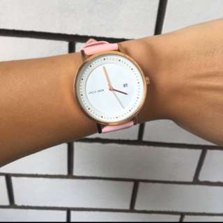 UNCLE JACK pink/rose gold watch