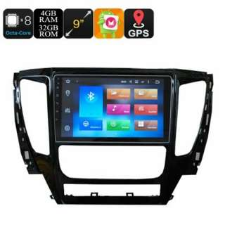9 Inch One Din Car Media Player For Mitsubishi Pajero 2017 - Android 6.0, Octa Core, 4+32GB, Can Bus, 3G Support, Wifi, GPS (CVAIO-C607)