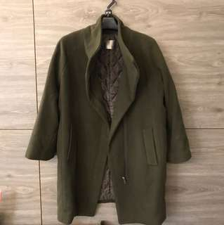 🚚 時尚毛料大衣(長90肩43胸55)
