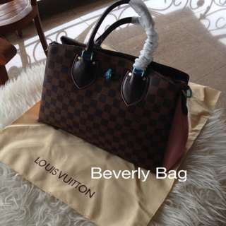 Ready jual tas LV Normandy Damier LEATHER MIRROR - pink
