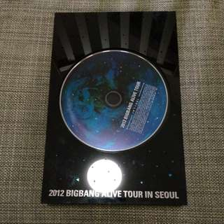 2012 Bigbang Alive Tour in Seoul DVD 寫真 Box Set