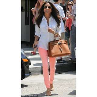 Peach Skinny Jeans Coral Orange Pink Denim Jean Pant Tube Tight Low Mid Rise Hot Miami Styles Cotton On