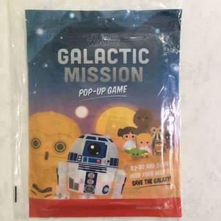 Star Wars Galactic Mission Pop up Game SQ